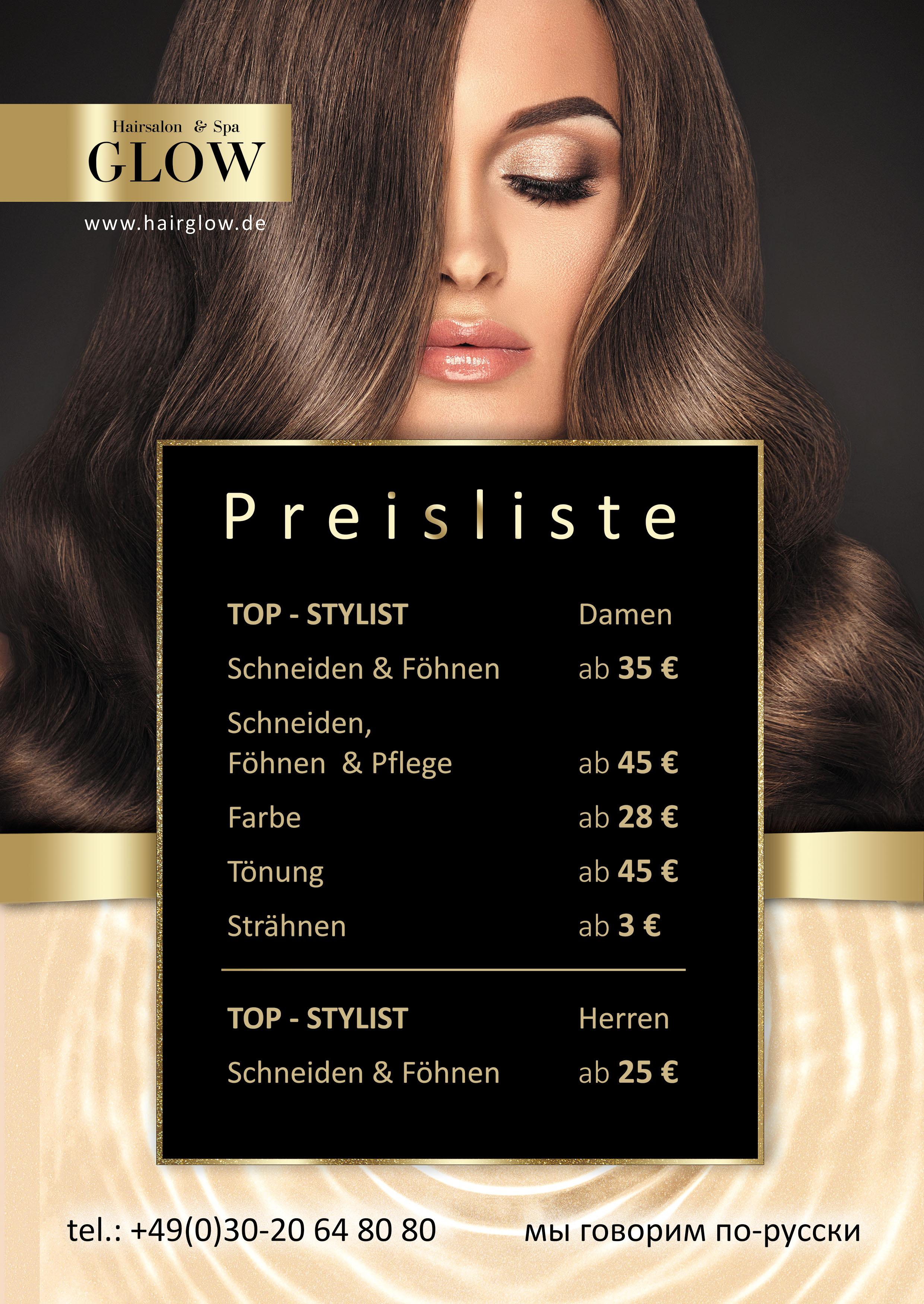 GLOW HAIR SALON & SPA - салон красоты в Берлине