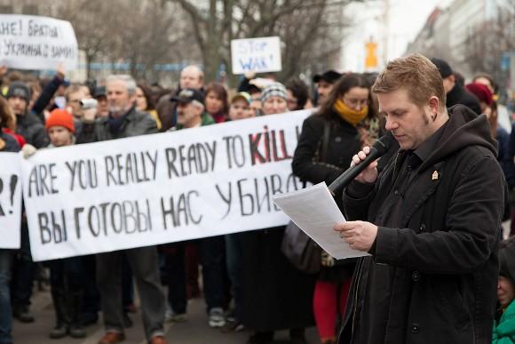 Митинг против ввода российских войск в Украину