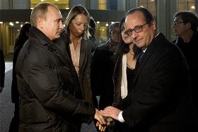 Встреча Путина и Олланда во Внуково