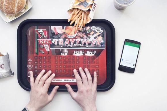 KFC в Германии: Bluetooth-клавиатура для любителей початиться во время еды