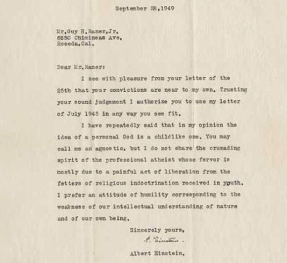 Письма Эйнштейна продадут за 1 млн евро