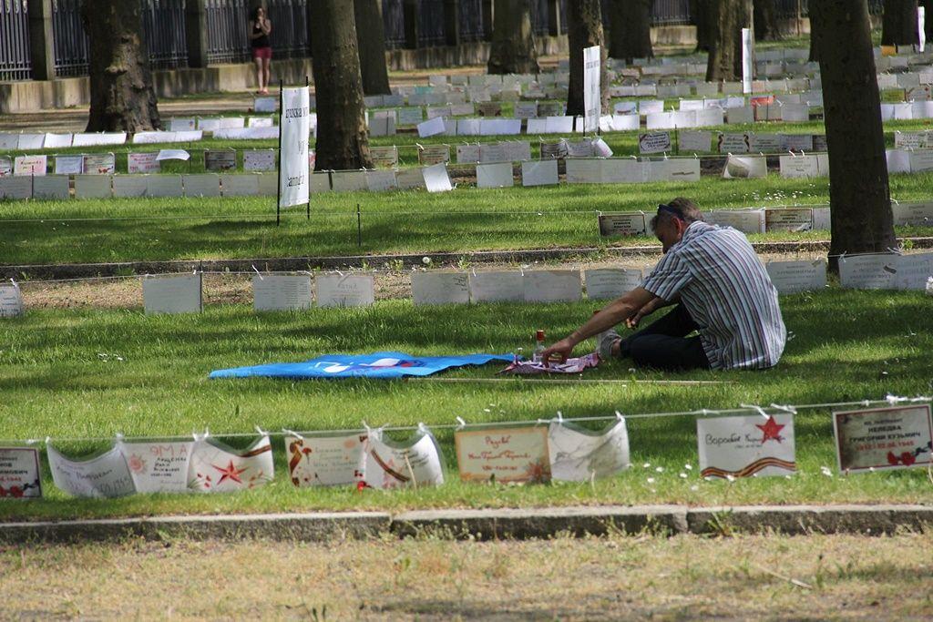 Акция «Солдатские имена на Братских могилах» 8-9 мая 2016 на мемориале Трептов-парк
