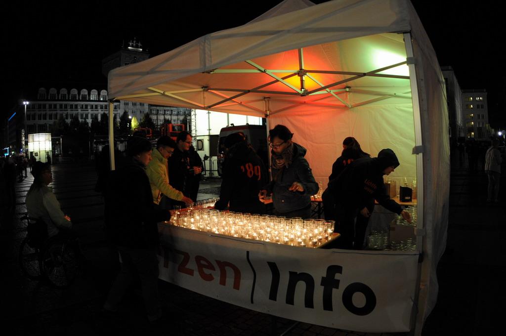 Лейпциг зажигает свечи в память о мирной революции 1989 года