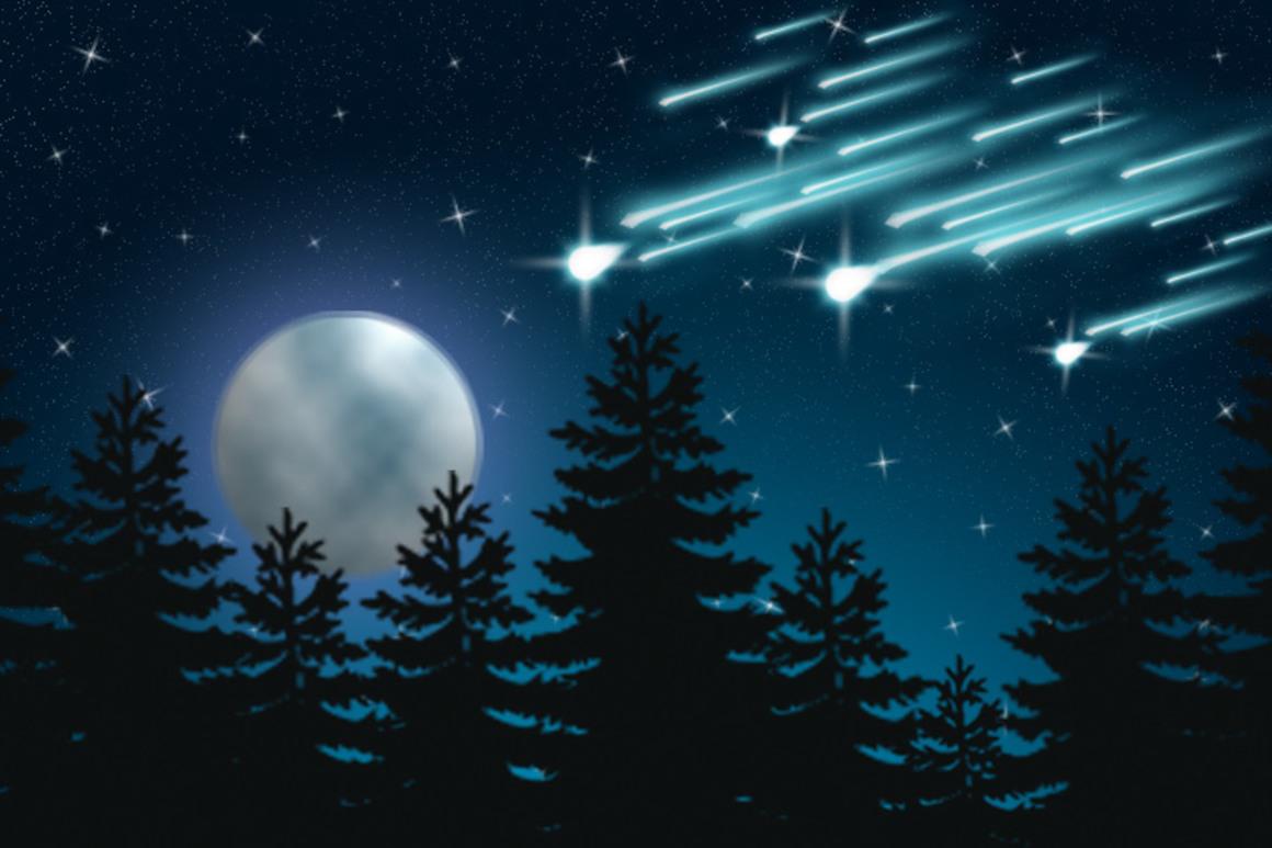 Собрать, красивые открытки звездопад