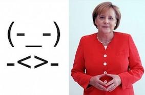 Личный смайлик Ангелы Меркель