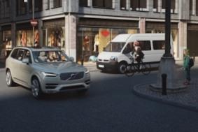 Велосипедный шлем Volvo спасет от столкновения с авто