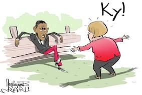 Самый обсуждаемый снимок: Меркель и Обама на саммите G7