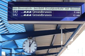 На выходных работа S-Bahn будет прервана