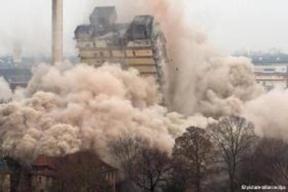 Самое высокое здание Европы снесено