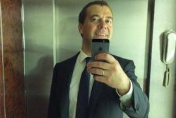Первое селфи Дмитрия Медведева