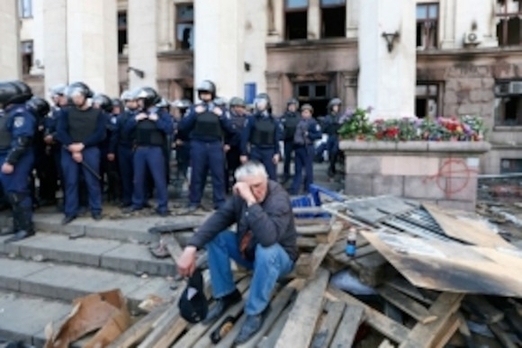 Открытие фотовыставки «Кровавая расправа в Одессе»