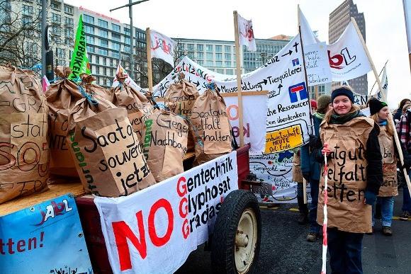Немецкие фермеры против свободной торговли с США