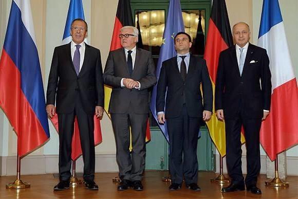 Берлин: министры иностранных дел нормандской четверки встретятся 13 апреля