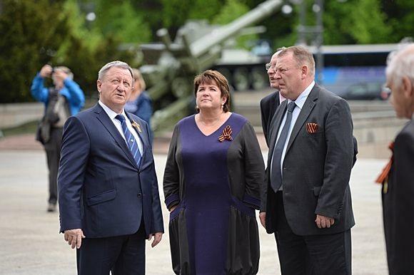 Любовь Глебова приняла участие в возложении цветов к мемориалу в Тиргартене