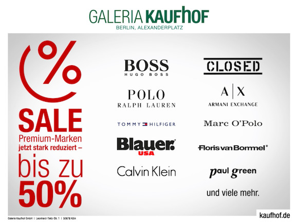 Galeria Kaufhof дарит подарки читателям BERLIN24
