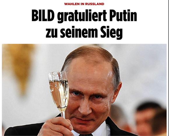 Берлин: хроника выборов Президента РФ