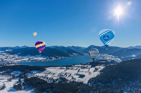 Рай для лыжников и сноубордистов. И воздушные шары над озером Tegernsee