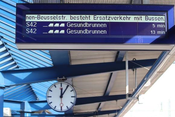 Берлин: новые мониторы на станциях